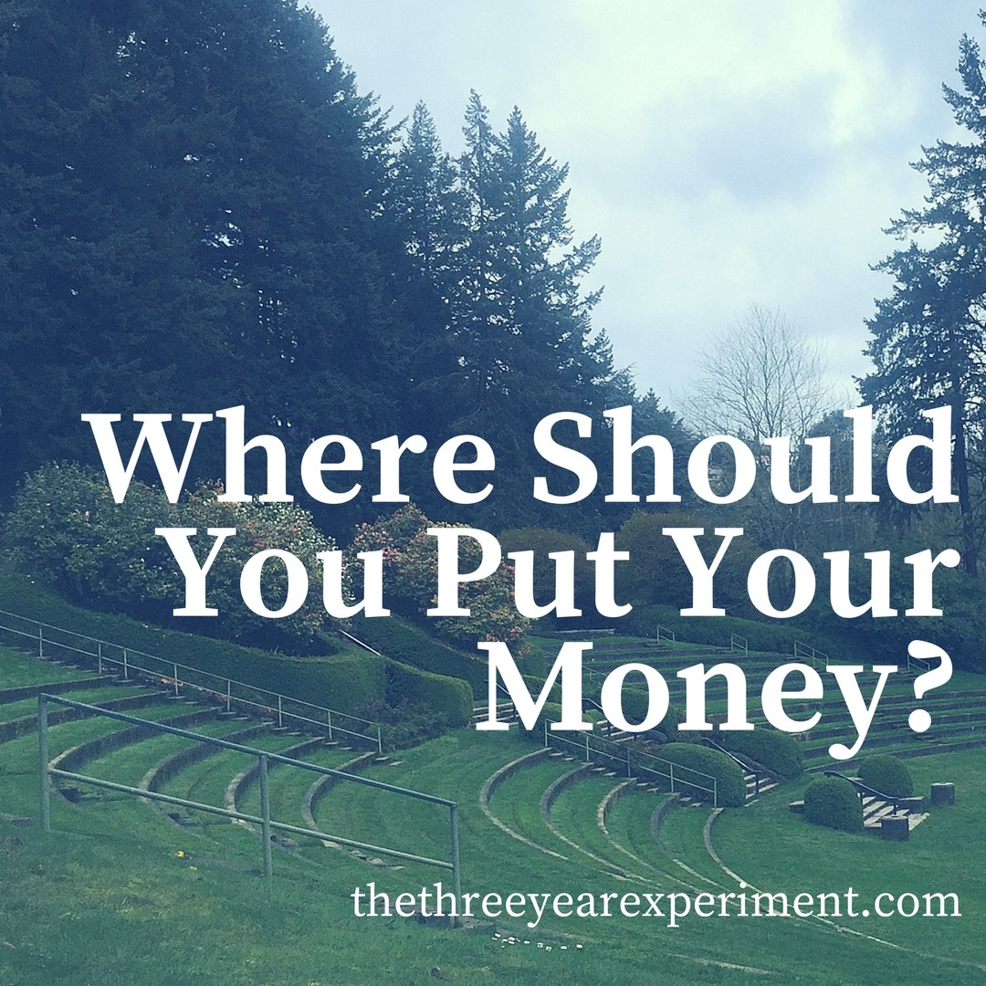 Where Should You Put Your Money? www.thethreeyearexperiment.com