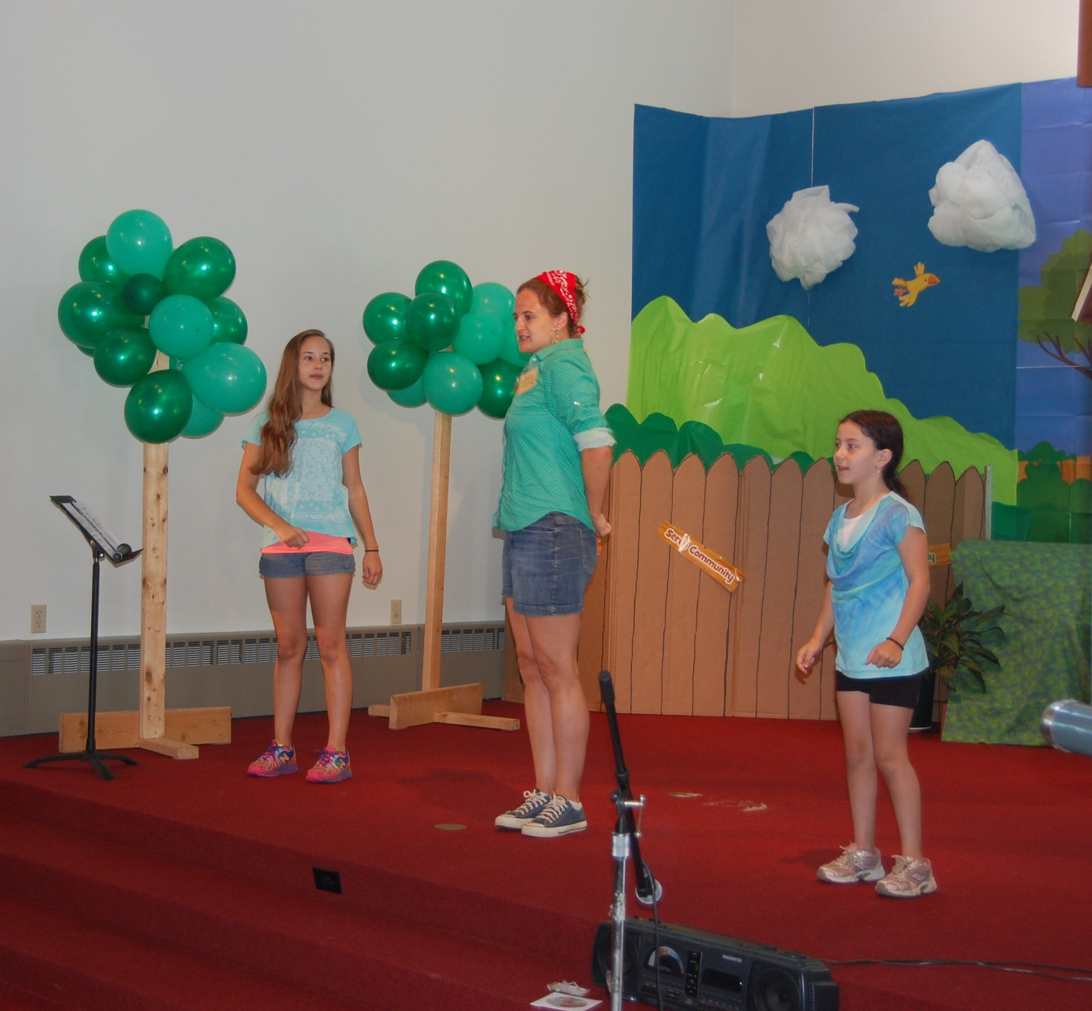 Vacation Bible School balloons state www.thethreeyearexperiment.com