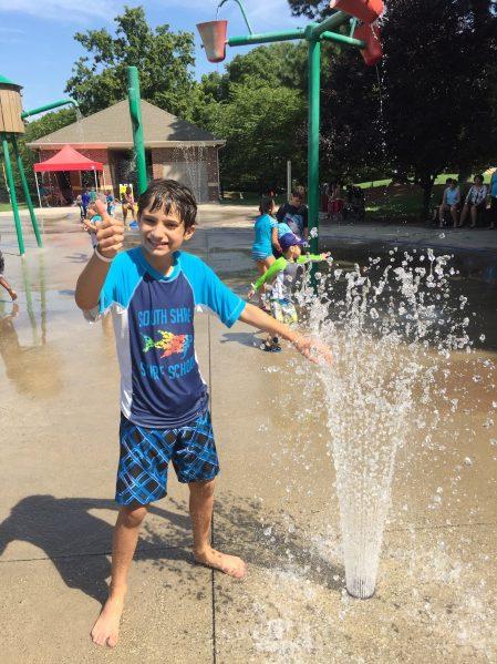 water splashpad fun