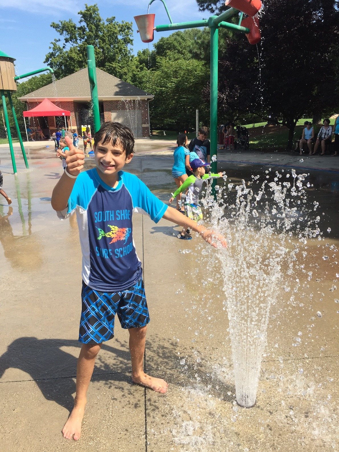 water splashpad fun