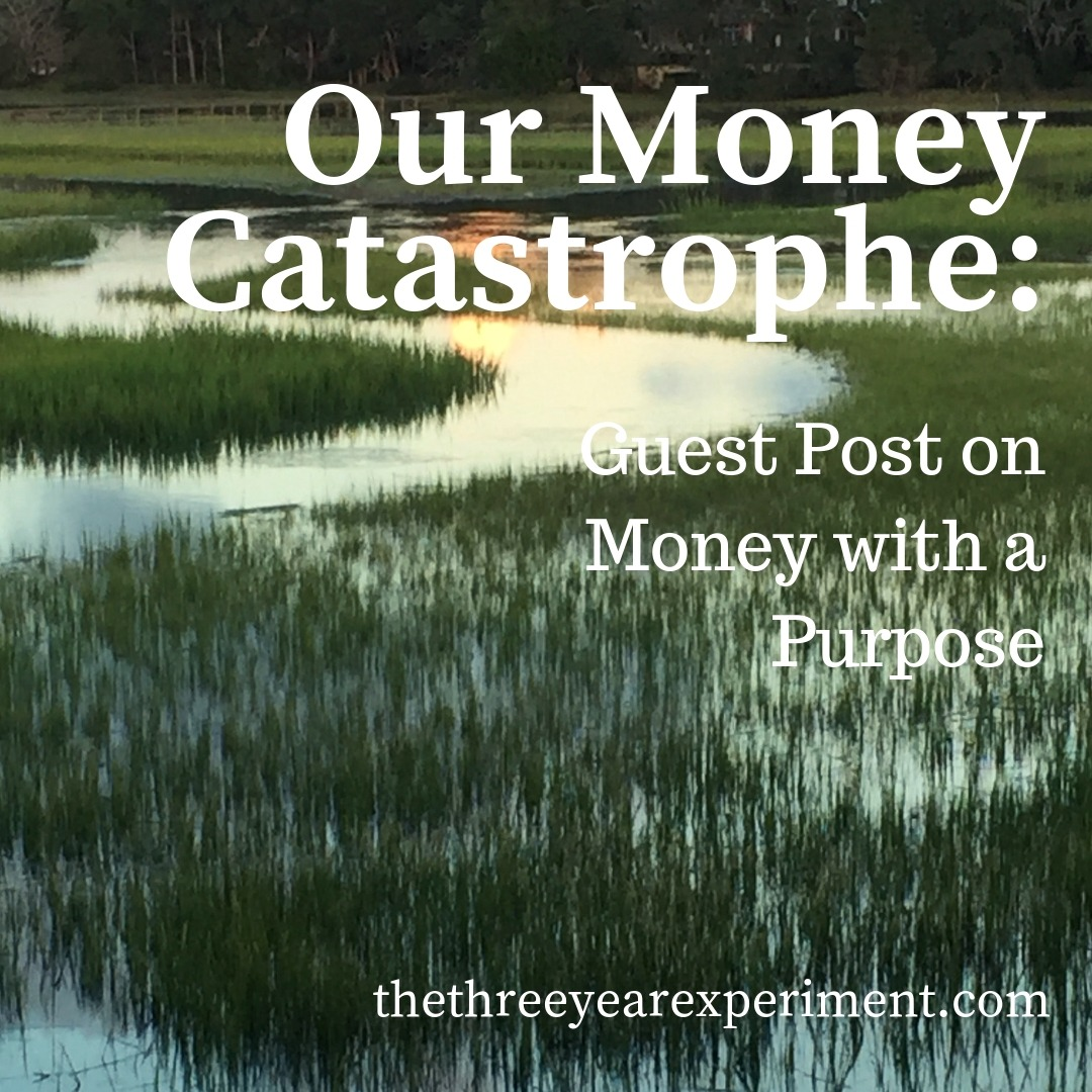 Our Money Catastrophe: Guest Post on Money with a Purpose www.thethreeyearexperiment.com