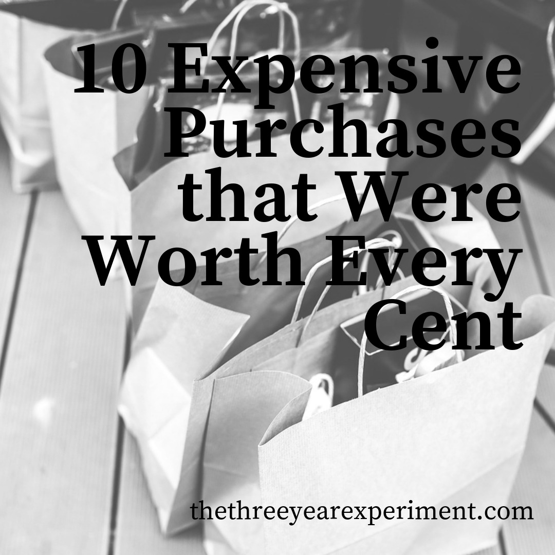 10 Expensive Purchases that Were Worth Every Cent www.thethreeyearexperiment.com