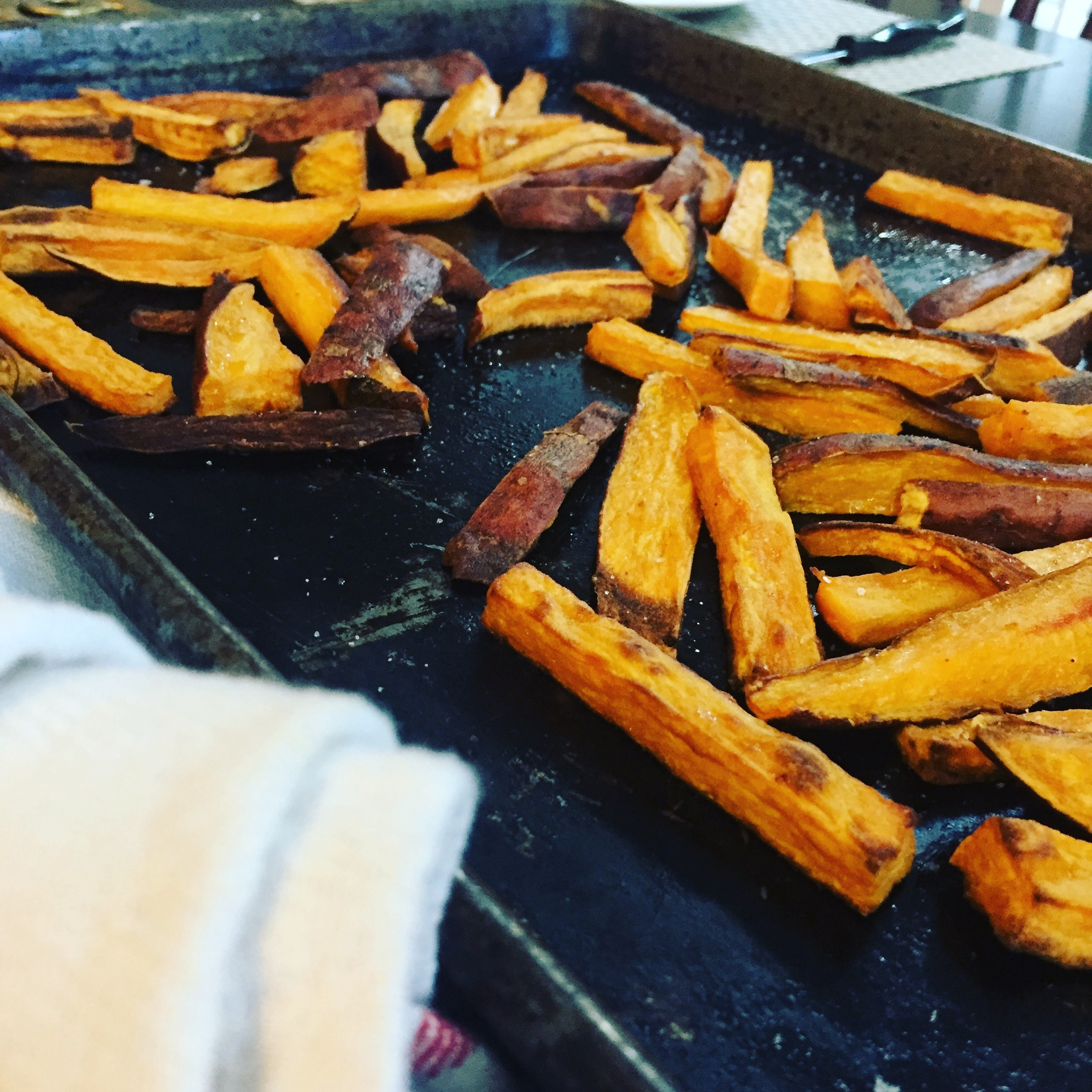 Sweet potato fries www.thethreeyearexperiment.com