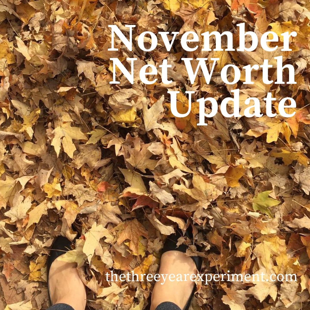 November Net Worth Update www.thethreeyearexperiment.com