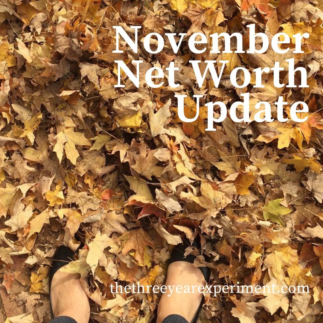 November Net Worth Update www.thethreeyearexperiment.com