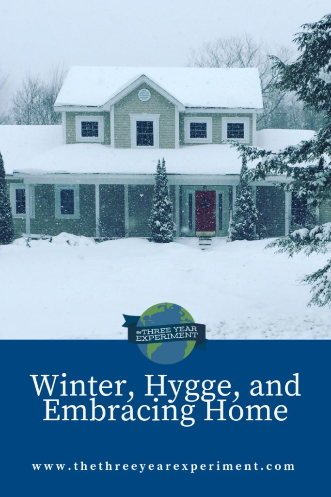 Winter may be cold and dark, but there are ways to make your home cozy and family-focused, and save money to boot! @lauriethreeyear #cozyhome #hygge #frugalwinter #stayathome