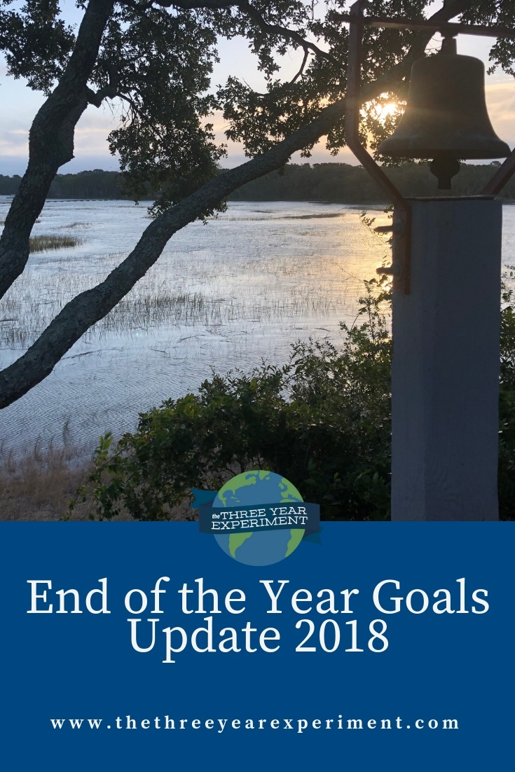 How did we do on our goals for this year? Time for an End of the Year Goals Update for 2018. @lauriethreeyear #goals #goalsetting #settinggoals #financialgoals