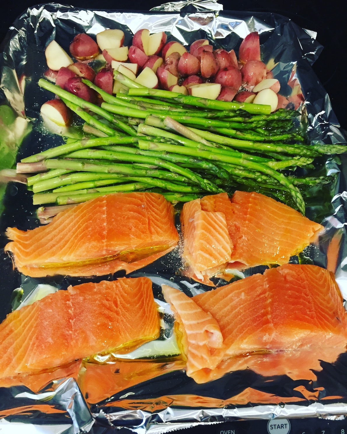 one pan salmon dinner