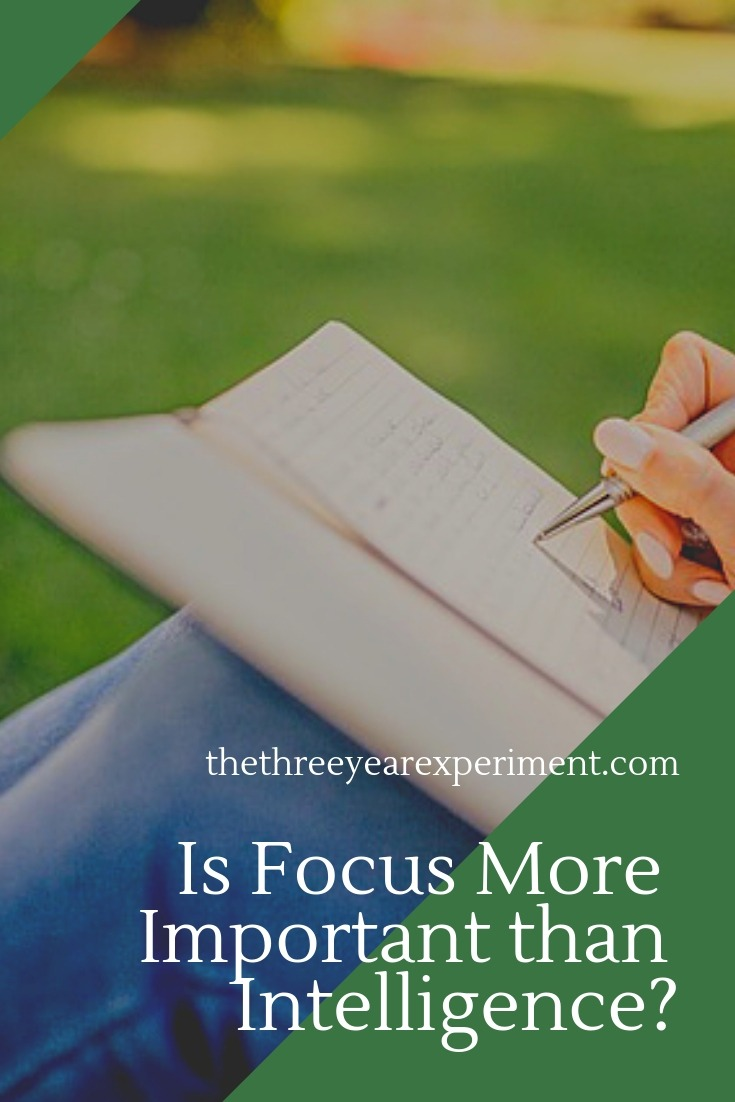 Can the ability to really focus on what you're doing be more important to your success than IQ points? Read why cultivating more focus is one of the best things to do in our distracted society. #focus #divedeep #deepwork #productivity
