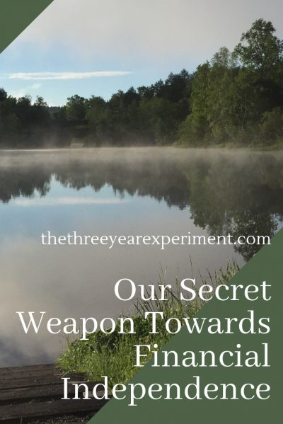 We have a secret weapon that helps us spend less, save more, and enjoy more. It takes practice to implement it, but it's made our lives so much sweeter. #secretweapon #fire #financialindependence #networth #retireearly #debtfree