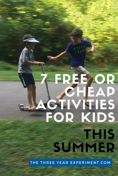 Looking for fun, free, or inexpensive ideas to keep your kids entertained this summer? Here are seven of my favorite activities to make summer fun while keeping costs low. #summerfun #simplefamily #freesummeractivities #summerkids