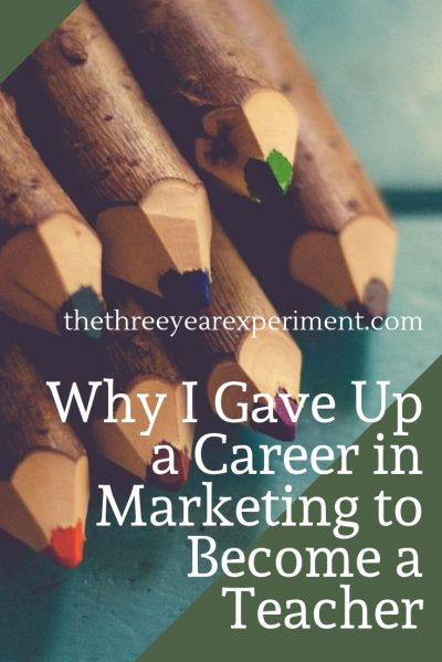 Why would an otherwise-intelligent 36-year-old leave the position of Marketing Director to become a teacher? For the pay. No, really. #careerchange #education #educatorsonFIRE #ESL