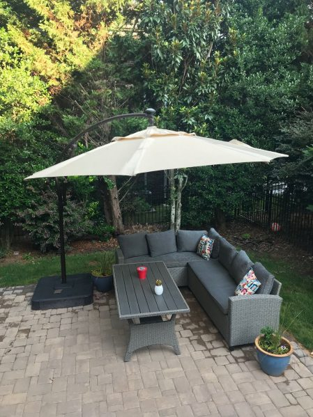 standing patio umbrella
