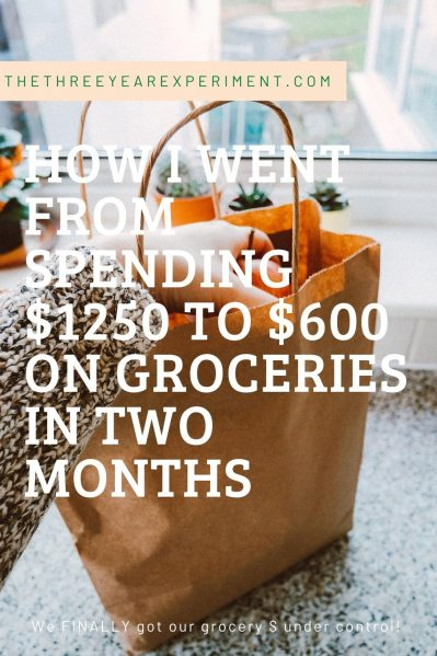 $600 grocery spending reduced grocery spending in two months